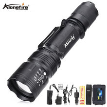 TK104 8000LM LED flashlight XM L2 Zoomable torch Waterproof rechargeable portable Tactical Gun Flash light Pistol Handgun lamp