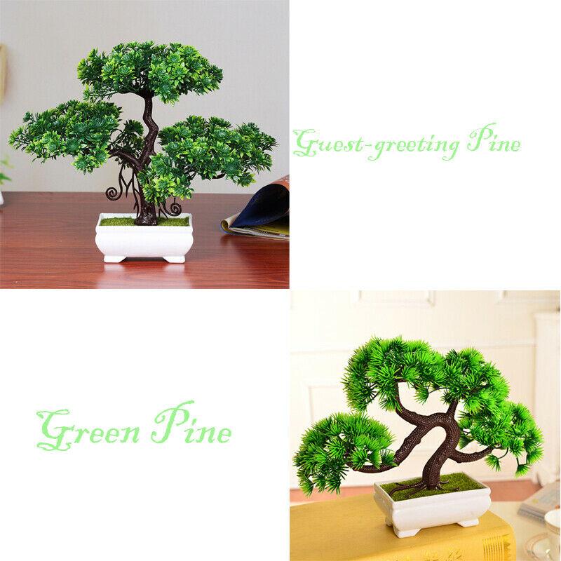 1X Artificial Bonsai Tree Greeting Pine Plant Pot Home Table Decor 20*25cm Gift