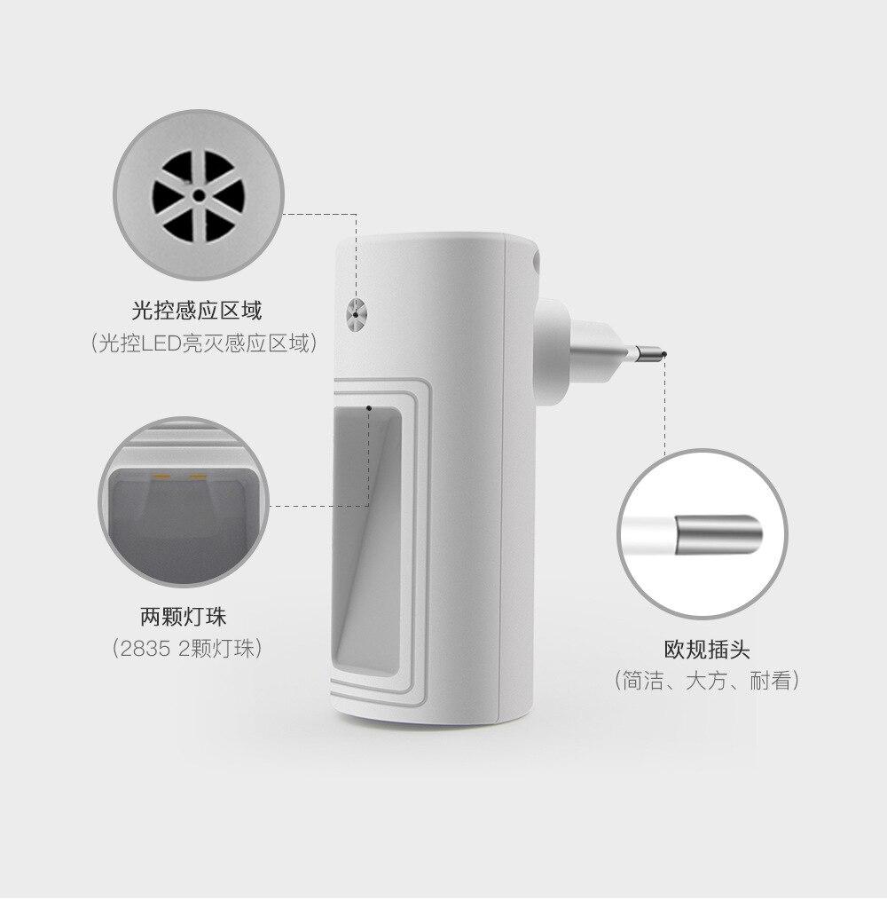 Купить с кэшбэком Amazon hot sale models LED night light L803B creative light control night light energy-saving plug-in feeding bedside lamp