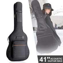 Mochila clásica de lona acolchada de 41 pulgadas, 5mm de grosor, con correas de hombro dobles para guitarra acústica de 38/39/40/41 pulgadas