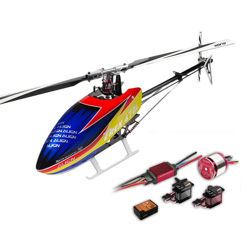 High Quality ALIGN T REX 470LT Helicopter Dominator Super Combo 450L Upgrade Version RC Helicopter Model Boys Kid Gifts