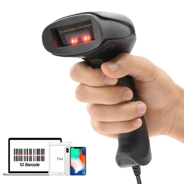 Ручной проводной сканер штрих-кода Netum F20, портативный сканер штрих-кода с 32-битным Usb кабелем, считыватель штрих-кодов A4 для pos-системы