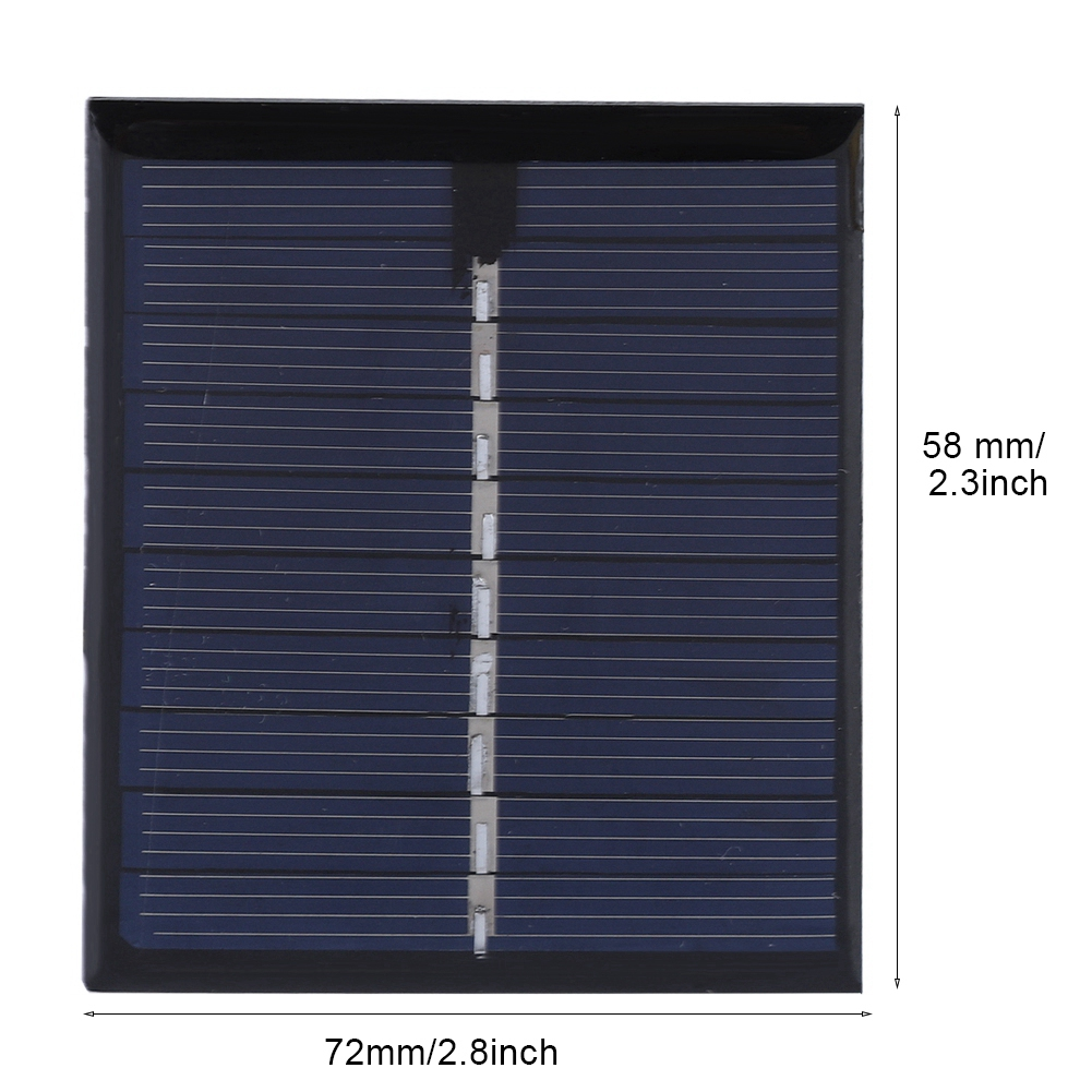 0,5 W 5 V DIY Solar Panel Polysilizium Platte Batterie Power Board 72x58 Outdoor Power Solar Panel