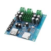 CLAITE TPA3116D2 2*50 WDouble TrackUSB bluetooth Placa De Amplificador de Potência Amplificador DC 12 V-24 V XH-M422