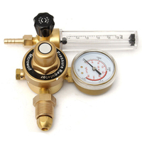 Argon CO2 Gauge Pressure Regulator Mig Tig Flow Meter Control Valve Welding Gas Double Tube Bubble Counter