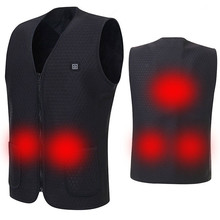 Usb Heated Outdoor Thermal Vest Warm Heating Jacket Man Women Winter Fleece Clothes Hunter Electric Warmer Hunting Fishing Vests