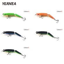 Yernea 1pcs Fishing Lures Swimbait Crankbait Hard Bait 5Colors Fishing Wobbler Fishing Tackle Isca Artificial Lures Pesca Lure