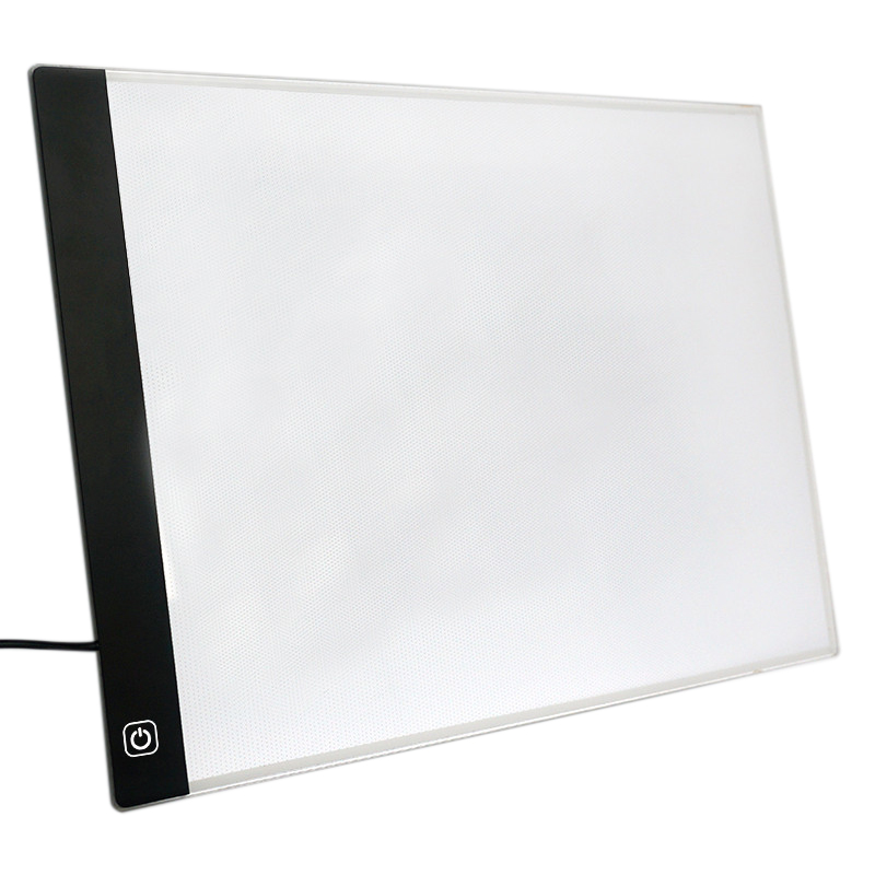 Led Lighted Drawing Board Ultra A4 Drawing Table Tablet Light Pad Sketch Book Blank Canvas For Painting Acrylic Watercolor Pai