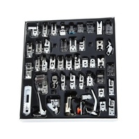 45pcs Sewing Machine Presser Foot Feet Kit Set With Box For Brother Singer Janom Sewing Machines Foot Tools Accessory Sewing T
