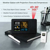 Projection Digital Projector Weather Station Clock Temperature Humidity Electronic LCD Thermometer Hygrometer Alarm