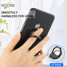 KISSCASE Fashion Mirror Finger Ring Holder Stand Universal Mobile Phone Cool For iPhone Samsung 360 Degree Flip