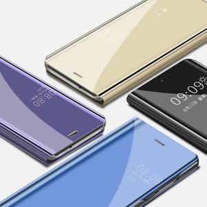 Image 5 - Innovativo Custodia protettiva del Cuoio di Vibrazione Della Copertura di Placcatura Specchio Curvo Del Basamento Anti Collisione Smart Phone Back Protector Per Huawei
