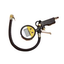 Цифровой Автомобильный датчик давления воздуха в шинах 220PIS/16 бар пистолет насоса прямой замок пневматический патрон Подсветка ЖК-дисплей для грузовой автомобиль