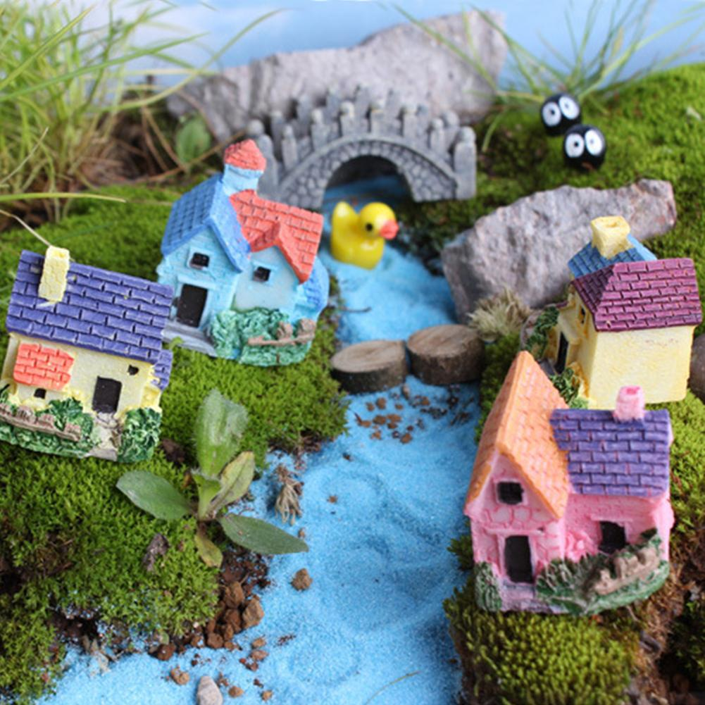 Simple House Miniature Fairy Mini Garden Home Gardening Micro Landscaping Decor