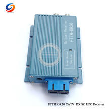 2018 Hottest OR20 CATV FTTH Fiber Optical Receiver AGC 2 output Micro SC UPC Duplex Connector with 2port Aluminium WDM(China)