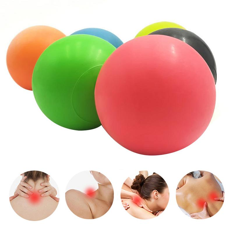 Balle de Massage Fitness TPE caoutchouc Hockey crosse 63mm Point de déclenchement Relaxation auto Massage soulager gymnastique entraînement Fascia HockeyBall