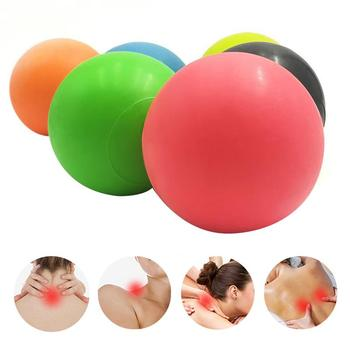 Fitness Massage Ball TPE Rubber Hockey Lacrosse 63mm Trigger Point Relaxation Self Massage Relieve GymTraining Fascia HockeyBall