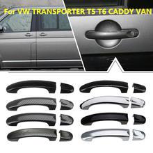 8 различных стилей 1 комплект дверные ручки крышки Накладка для VW TRANSPORTER для T5 2003 2004- для T6-up для CADDY VAN 2004