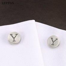 Запонки lepton мужские с буквами алфавита классические античные