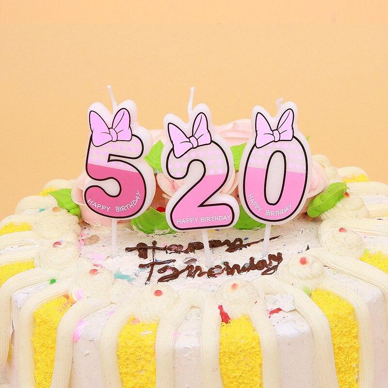 9 ans-Gâteau-Anniversaire-Fête No.9 Polka Dot Nombre Bougie