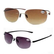 Mayitr 1 unid moda Unisex UrltraLight bifocales gafas de lectura 2 colores  de Metal sin montura gafas de sol para hombres y muje. 94ae4d51b2