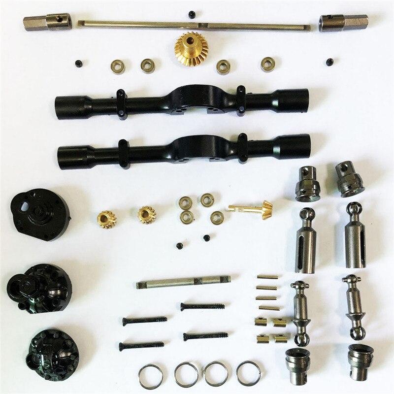 1 Set Front Rear Metal Bridge Axle for WPL B-1 B16 B24 B36 C14 C24 1/16 4WD 6WD Rc Car Parts