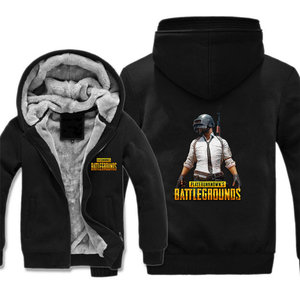 Game PUBG Playerunknown's Battlegrounds jacket Cosplay Costume Jackets Coats Long Winter Zipper Coat Hooded Hoodie(China)