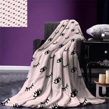 Пледы ресниц одеяло каракули стиль Открытые и закрытые глаза рисованная эскиз абстрактный милый детский дизайн теплое одеяло из микрофибры