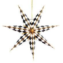 1pc 40cm Black White Geometric Paper Star Lantern 3D Seven Angle Wedding Christmas Room Decor DIY Crafts