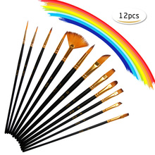 12Pcs Top Artistic Brushes Paint Watercolor Drawing Kits Pastel Brush Draw Set For The Art Painting