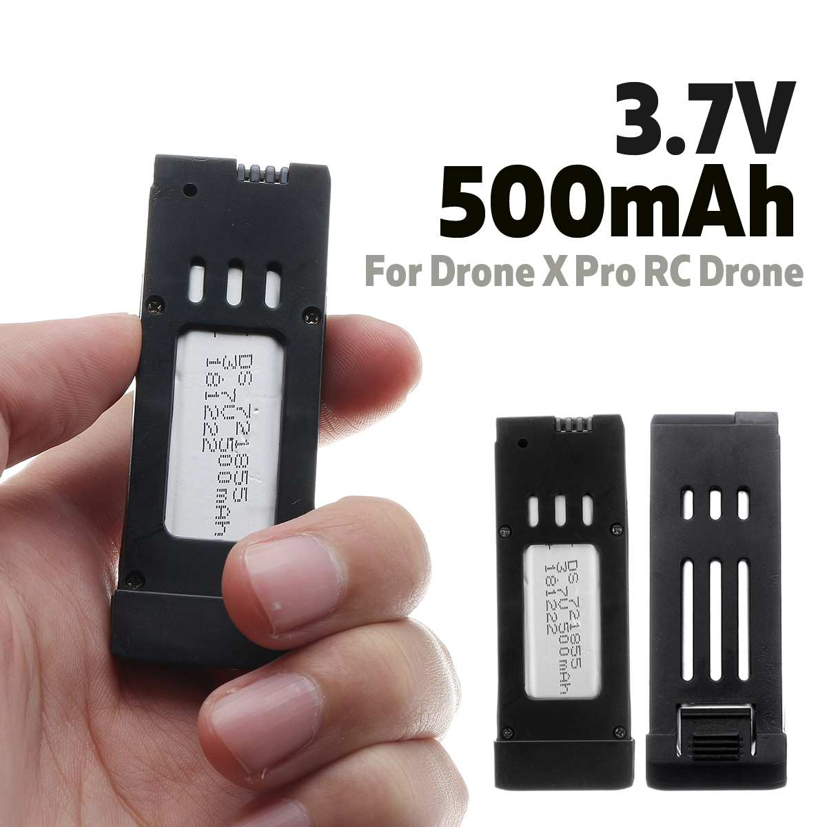 3.7V 500mAh Lipo Battery Rechargeable Replacement Portable Quadcopter Battery Spare Parts for Drone X Pro RC Drone Quadcopter drone x pro
