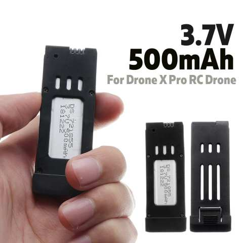 3.7V 500mAh Lipo Battery Rechargeable Replacement Portable Quadcopter Battery Spare Parts for Drone X Pro RC Drone Quadcopter Pakistan