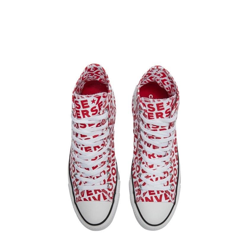 Converse officiel Chuck Taylor All Star haute aide unisexe Skateboarding chaussures à lacets plat Sneaksers # 163953c - 5