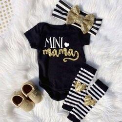 Одежда для новорожденных девочек, комбинезон, топ, повязка на голову, комплект с завязками на щиколотке