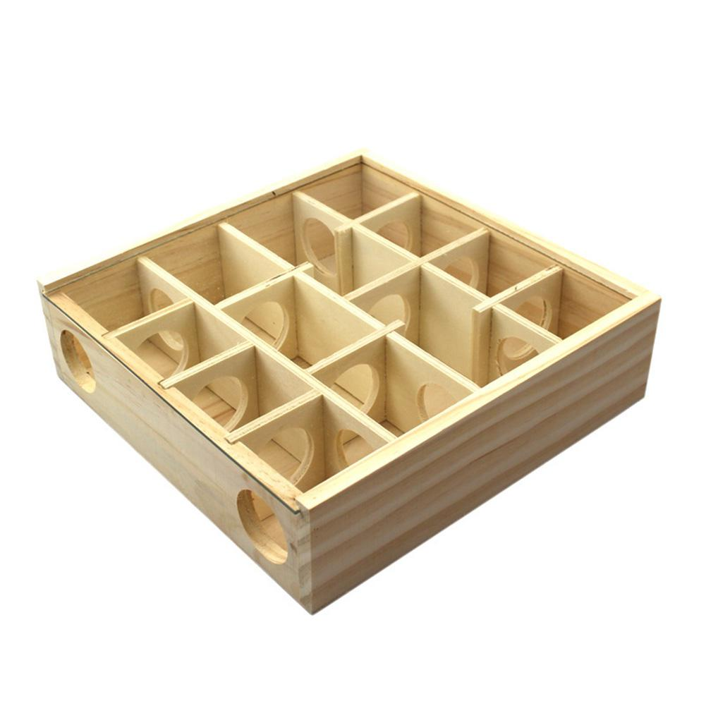 Adeeing Wooden Maze Tunnel Toy for Small Animal font b Pet b font Hamster