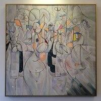 Ручная роспись красочные обнаженные девушки масляная живопись обнажённая картины изображающие женщин современные абстрактные настенные