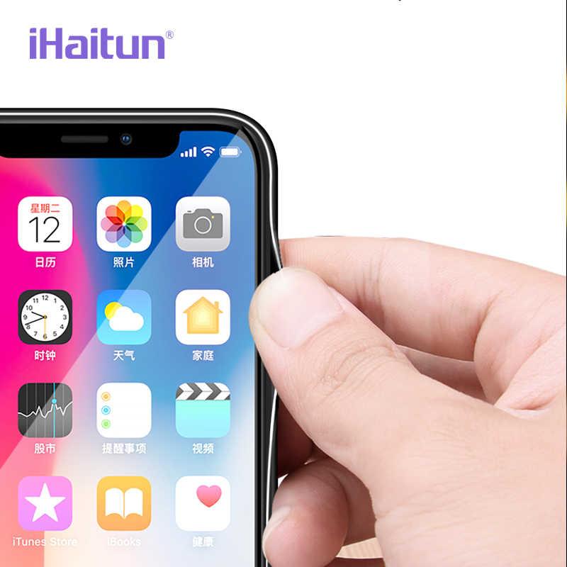 IHaitun Kính Sang Trọng Trường Hợp Đối Với iPhone 11 Pro Max XS MAX XR X Các Trường Hợp Siêu Mỏng Trong Suốt Trở Lại Glass Bìa Cho iPhone XS MAX 10 7 8 Plus X Mềm Cạnh