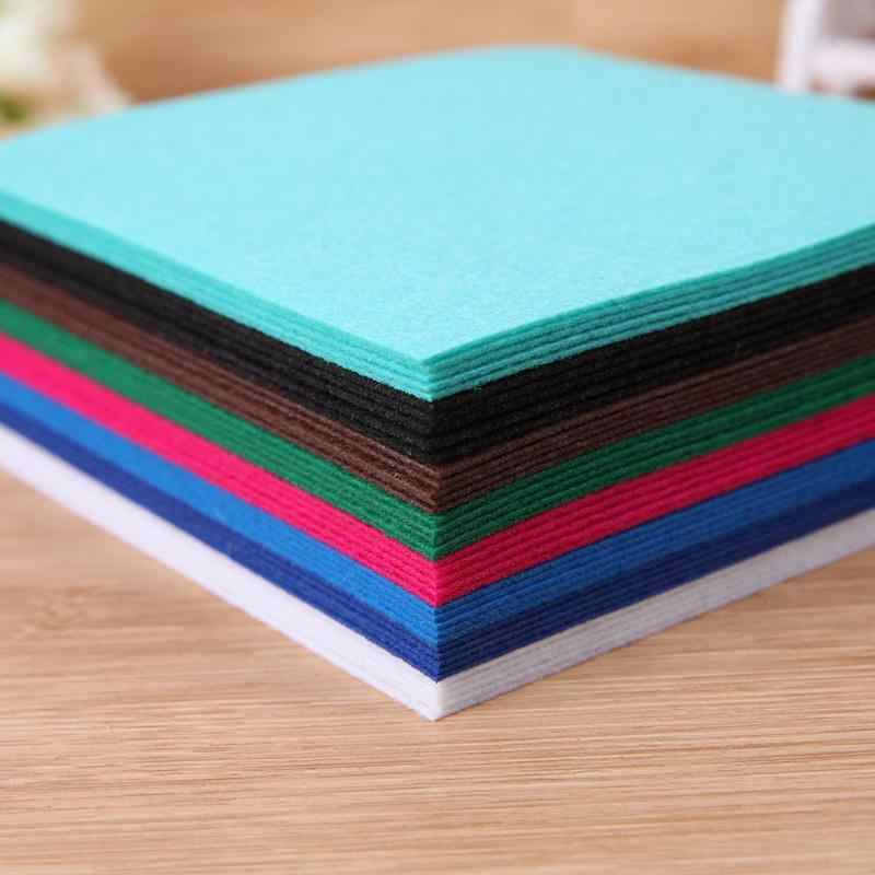 40 pz/lotto Colorful tessuto Non Tessuto Feltro Tessuto In Poliestere Panno Feltri Artigianato Fatti A Mano In Tessuto Per Cucire Strumenti Pacchetto FAI DA TE Per Cucire Bambole