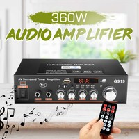 360W HIFI 2CH 12V Car Audio Power Amplifier 220V Home Theater Amplifiers bluetooth Subwoofer Stereo Audio Music Sound with RC