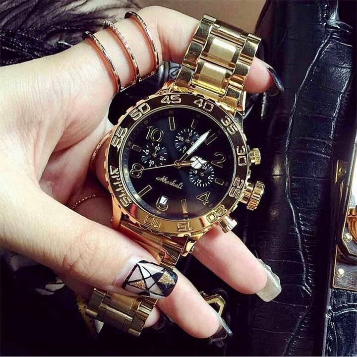 Mashali High Quality Men Women Watch Luxury Six pin calendar Wristwatches Crystal Dress Watches Female Quartz