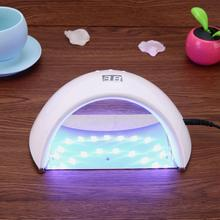 hot deal buy 48w 21led nail dryer uv nail lamp for nail gel polish drying manicure with timer button sensor nail art tools us plug adapter