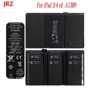 JRZ Battery Replacement A1403 A1389 iPad 11560mah for 3/4-rd/A1403/..