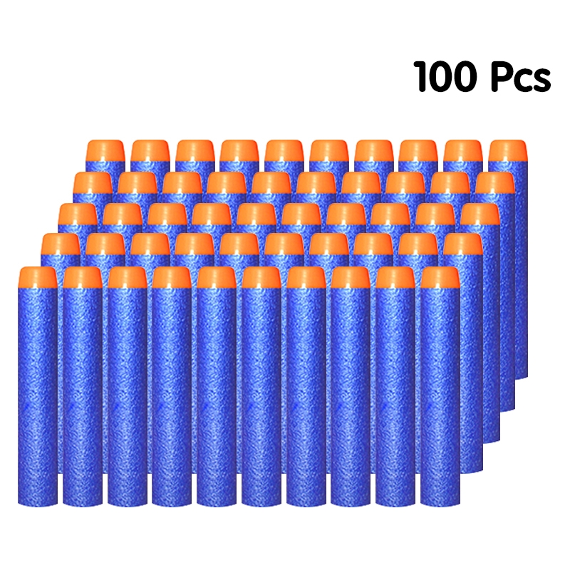 10/50/100PCS Soft Bullets For Nerf Bullets Soft Hollow Hole Head 7.2cm Refill Darts Toy Gun Bullets Blasters Kid Children Gift
