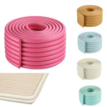 2m Baby Safety Bumper Strip Children Table Corner Protector Guard Desk Edge Cushion Strips YJS Dropship soft table edge corner guard cover baby safety rubber table edge guard protector desk corner bumper for kids security protection