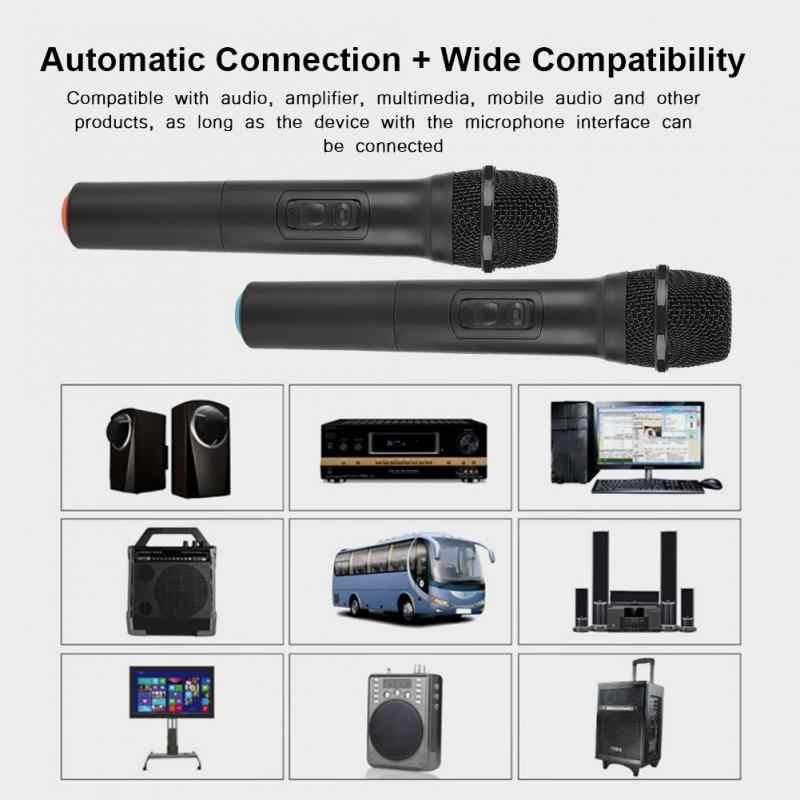 Универсальный VHF беспроводной карманный микрофон с приемником/антенной для караоке/бизнес-встречи портативные микрофоны 2018