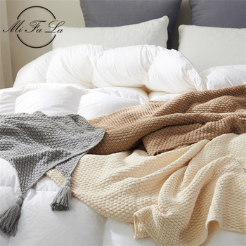 High Quality Handmade Cotton Knitted Blankets for Beds Sofa Cover Super Soft Knit Blanket Throw Plaids Bedspread manta para cama