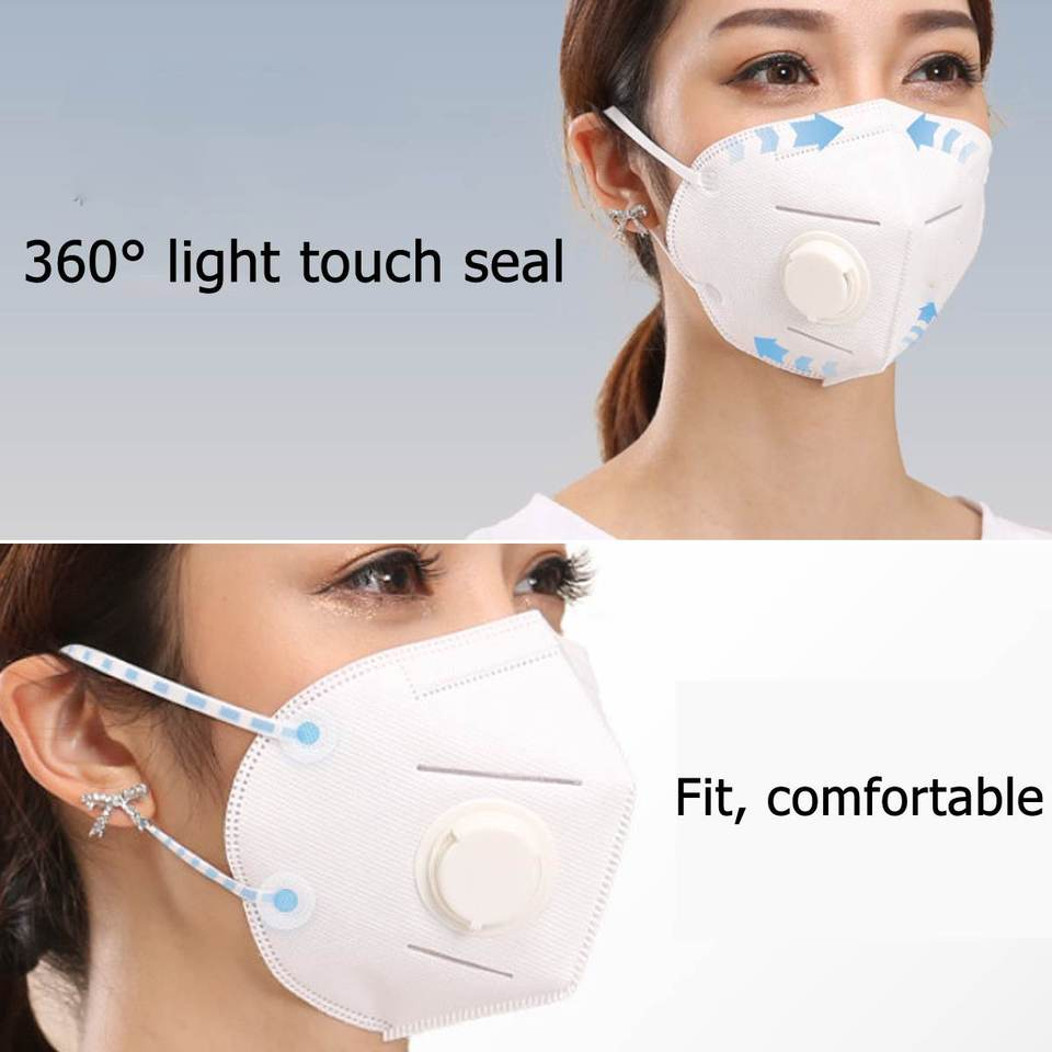 Filter Air 1pc Valve Pollution N95 Anti Anti-virus Layer Kifit Pathogen Fog Dustproof Breathing Mask 4 5