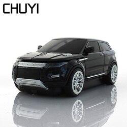 CHUYI bezprzewodowa mysz optyczna Mini 3D SUV samochód myszy 1600 DPI do gier komputerowych USB PC myszy na prezent na laptopa