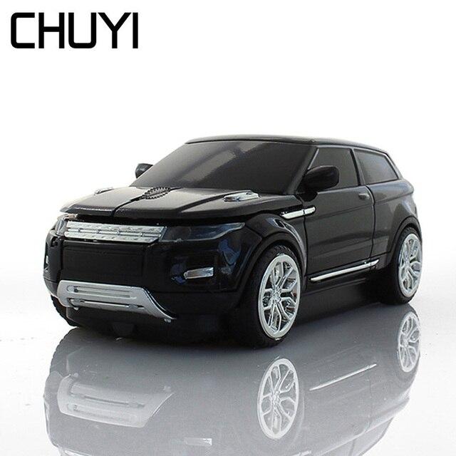 Chuyi 무선 광학 마우스 미니 3d suv 차량용 마우스 1600 인치 당 점 컴퓨터 게이머 usb pc 마우스 선물 노트북 노트북