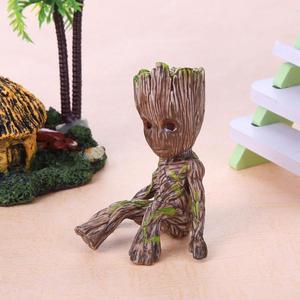 Image 3 - Bé Groot Lọ Hoa Hoa Dụng Cụ Bào Các Bức Tượng Nhỏ Cây Con Người Dễ Thương Đồ Chơi Mô Hình Bút Nồi Vườn Dụng Cụ Bào Hoa Tặng trẻ Em